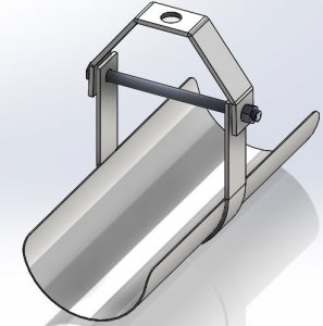 clevis hanger with shield