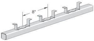 concrete insert strip
